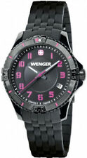 Women's Black Wenger Squadron Silicone Band Watch 0121.105