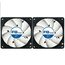 2 Pack Of Arctic F8 PWM 80mm 8cm PC Gaming Case Fan Silent,  6Yr Wty