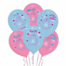 Peppa Pig Birthday Party Supplies Balloons Decorations Air Helium Pack Of 6