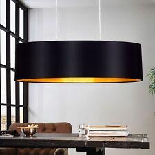 Design Pendel Leuchte Textil Schwarz Gold Wohnzimmer Hänge Lampe E27 Beleuchtung