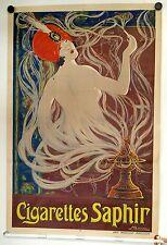 Original Vintage Poster Cigarettes Saphir Reklame Plakat Affiche Originale 1920