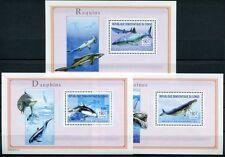 KONGO, KINSHASA 2003 Hai Delphin Wal Shark Dolphin Whale Block 146-48 **