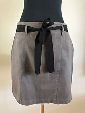 WITCHERY Skirt With Black Fabric Belt, Size 12