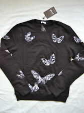 BNWT MENS VALENTINO EMBROIDERED BUTTERFLY SWEATSHIRT SIZE LARGE BLACK JUMPER TOP
