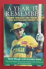 *SIGNED FIRST EDITION* A YEAR TO REMEMBER by Mark Waugh (Paperback, 1997)