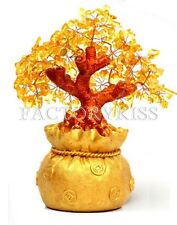 Money Wealth Bag Feng Shui Lucky Tree Size S Yellow Citrine Crystal WUS