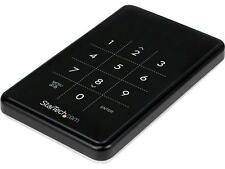 StarTech.com USB 3.0 encrypted SATA III enclosure for 2.5in hard drive - portabl