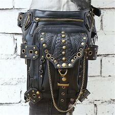 Vintage Fanny Shoulder Motorcycle Messenger Steampunk Gothic Pack Waist Leg Bag