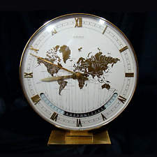 Big KIENZLE Weltzeit Uhr  Ø 26cm modernist Table World TIMER Zone Clock 1960´s