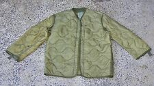 US AUS Army Surplus Military M65 Field Jacket Quilted OD Green Coat Liner MEDIUM