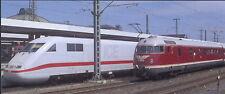 XXL-Ansichtskarte: Eisenbahn:  ICE 1 und VT 08 im Bahnhof - Railways