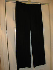 LADIES SIZE 12 BLACK (PIN STRIPE VERY FAINT)  BOOTCUT STYLE SMART TROUSERS