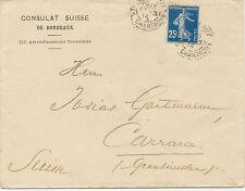 FRANKREICH 1914/54 Säerin 25 C als EF u. Marianne 15 F MeF a. zwei KONSULATS-Bf