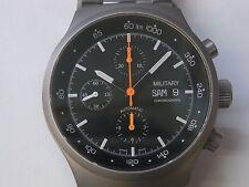 Military Fliegerchronograph ETA / Valjoux 7750 Edelstahl NEU