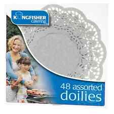 48 Pack Assorted White Paper Doilies-Catering Party Table Decoration , UK seller