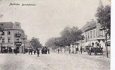 AK Northeim Bahnhofstrasse um 1919 als Feldpost nach Falkenstein im Vogtland.