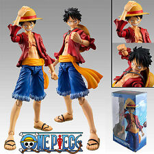 """One Piece Heroes Monkey D Luffy 18cm/7"""" PVC Action Figure Figma Toys New In Box"""
