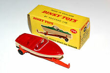 Dinky Toys Original Healey Sports Boat On Trailer # 796 Boxed Rarer Colour !!