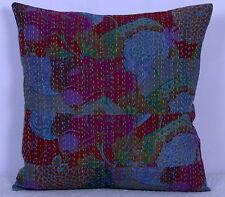 """Multicolor Cushion Cover Patchwork Kantha Stitch Home Décor Pillow Case 16"""""""