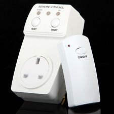 Wireless Remote Control Switch + AC Electrical Power Outlet UK Plug Socket NEW