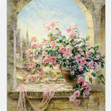 """16x20"""" Flower Art Paint By Number Digital Oil Painting Picture Printed On Canvas"""