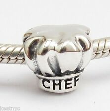 BEST COOKING CHEF CHARM Bead Sterling Silver.925 For European Bracelets 896
