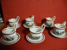 6 Weimar Porzellan Sammeltassen Biedermeier - Stil Limitierte Auflage