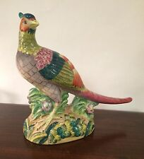 "Vintage Porcelain Bird Pheasant 9"" Figurine by Sadek ~Excellent Condition ~"