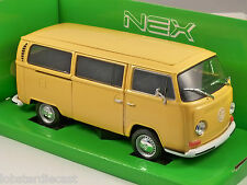 1972 VOLKSWAGEN T2 COMBI BUS in Yellow 1/24 scale model by WELLY