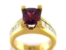 2.35 CT Natural Tourmaline & Diamond Lady's Ring VS/G 18K Yellow Gold