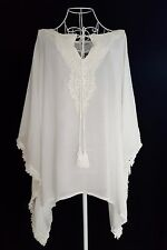 WOMENS Plus Size 22 to 26 Crochet Lace BATWING Blouse Kaftan Drape TUNIC TOP