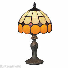Loxton Lighting Brown Bistro Tiffany Table Lamp TBR-2
