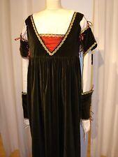 Renaissancekleid dunkelgrün Samt Kleid Gewand Kostüm LARP Mittelalter Hochzeit