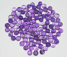 10 PIECES OF 3mm ROUND CABOCHON-CUT PURPLE NATURAL BRAZILIAN AMETHYST GEMSTONES