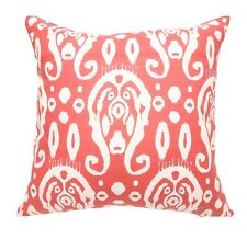 Red Circles linen and cotton cushion cover 45 x 45