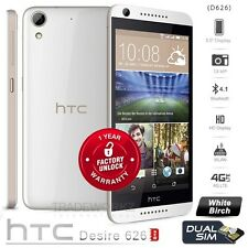 New Unlocked HTC Desire 626 Dual Sim 16GB White 13MP Android 4G LTE Mobile Phone