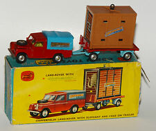 Corgi Toys Gift Set No. 19 - Chipperfields Land-Rover And Cage On Trailer in OVP