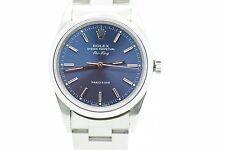Rolex Airking Automatik Uhr Ref. 14000  blaues Blatt 34mm Uhrmachermeister