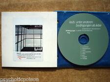 LAUB - Unter anderen Bedingungen als Liebe  CD PROMO  Kitty-Yo 99019