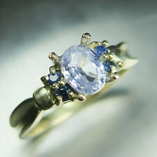 0.90cts Natural light Lavender blue Sapphire 10k 9ct 375 yellow gold ring