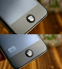 Transformer Home Button Sticker / Protector For iPhone iTouch iPad 4 4S - Black