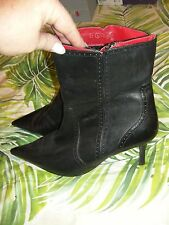Target Black Leather Stiletto Ankle Boots (Size 8.5) BNWOT