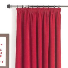"""B&Q RED CHENILLE FULLY LINED CURTAINS, MADISON RED 66"""" X 54"""" #236"""