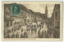 Erlangen Studenten-Festzug durch die Hauptstrasse 1912 nach Paris Studentika