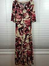 CHARLIE BROWN sz 12 womens Print Maxi Dress
