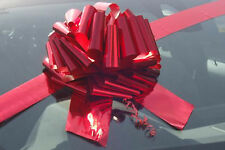 BIG GIANT PULL BOW for Cars, Bikes, Large BIRTHDAY & XMAS Gifts - METALLIC RED
