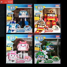 Robocar Poli Deluxe Poli Roy Amber Helly Transforming figures Transformers 4pcs