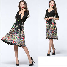 02 New Women lady half Sleeve V Evening party Summer Formal dress Plus Size 22