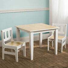 NEW DELTA CHILDREN NATURAL KIDS WOODEN TABLE & CHAIRS SET FOR BEDROOM / PLAYROOM