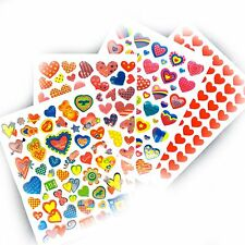 Heart Stickers Variety Set 235 Hearts on 4 sheets for craft diary scrapbook etc